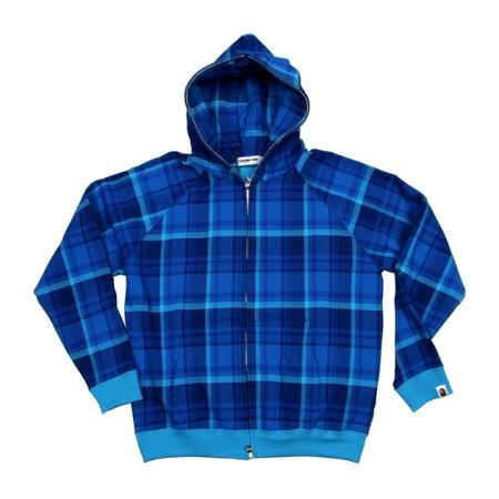 colette-x-bape-blue-tartan-hoodie